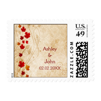 Rustic, maple leaves autumn, fall  stamps