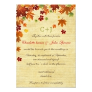 Rustic fall leaves fall wedding invites by mgdezigns