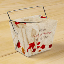 Rustic Maple Leaves Fall wedding favor boxes