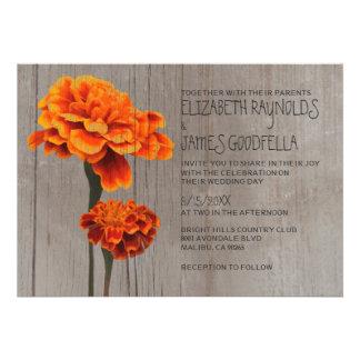 Rustic Marigolds Wedding Invitations Invite