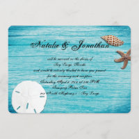 Rustic Marine Blue Destination Beach Wedding