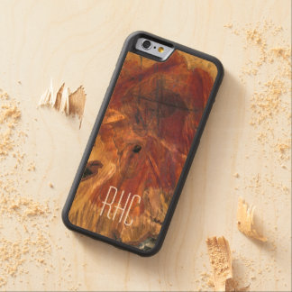 Rustic Masculine and Woodsy Burl Monogram Carved® Maple iPhone 6 Bumper Case