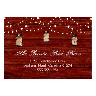 Rustic Mason Jar and Lights Business Card Template