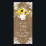 """Rustic Mason Jar and Sunflowers Wedding Programs<br><div class=""""desc"""">Rustic barn wedding programs with mason jar,   baby&#39;s breath,  sunflowers,  wood,  lace,  and romantic string lights</div>"""