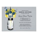 Rustic Mason Jar and Wildflower Bridal Shower Personalized Invitation