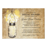 Rustic Mason Jar and Wildflower Daisies 5x7 Paper Invitation Card