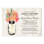 Rustic Mason Jar and Wildflowers Personalized Invites