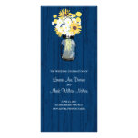 Rustic Mason Jar and Wildflowers Program Customized Rack Card