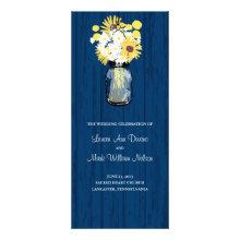 Rustic Mason Jar and Wildflowers Program Full Color Rack Card
