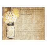 Rustic Mason Jar and Wildflowers | Recipe 4.25x5.5 Paper Invitation Card
