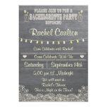 Rustic Mason Jar Bachelorette Party Invitation