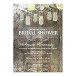 Rustic Mason Jar Bridal Shower Invitation