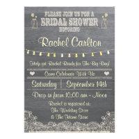 Rustic Mason Jar Bridal Shower Invitation Custom Announcements
