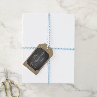 Rustic Mason Jar Burlap Wedding Custom Gift Tags