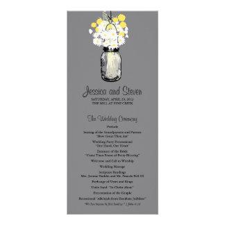 Rustic Mason Jar Daisies Wildflowers Program