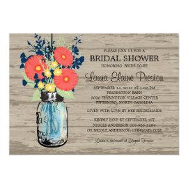 Rustic Mason Jar Gerber Daisies Bridal Shower 5
