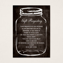rustic mason jar Gift registry  Cards