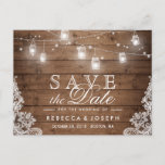"Rustic Mason Jar Lights Lace Wedding Save the Date Announcement Postcard<br><div class=""desc"">Rustic Mason Jar Lights Lace Wedding Save the Date Postcard (1) If you are planning send out via USPS, you may consider use this version: https://www.zazzle.com/239110578404568651 (2) For further customization, please click the &quot;customize further&quot; link and use our design tool to modify this template. (3) If you need help or...</div>"