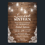 """Rustic Mason Jar Lights Sweet 16 Birthday Party Card<br><div class=""""desc"""">Rustic Mason Jar Lights Sweet 16 Birthday Party Invitation. (1) For further customization, please click the &quot;customize further&quot; link and use our design tool to modify this template. (2) If you prefer thicker papers / Matte Finish, you may consider to choose the Matte Paper Type. (3) If you need help...</div>"""