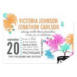 """Rustic Mason Jar Mint Pink Coral Teal Wedding 5"""" X 7"""" Invitation Card"""