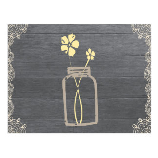 Rustic Mason Jar Recipe Shower Card