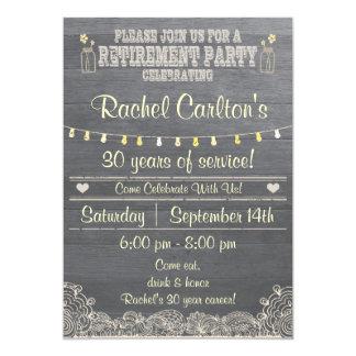 Rustic Mason Jar Retirement Party Invitation