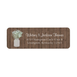 Rustic Mason Jar Return Address Label