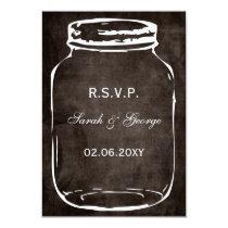 rustic mason jar rsvp cards standard 3.5 x 5