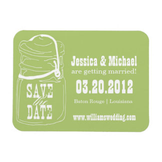 Rustic Mason Jar Save the Date Flexible Magnets