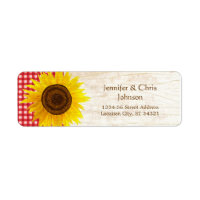 Rustic Mason Jar & Sunflowers Address Labels