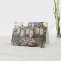 Rustic Mason Jar Thank You Card