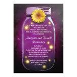 Rustic Mason Jar Wedding Anniversary 5x7 Paper Invitation Card