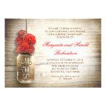 rustic mason jar wedding anniversary invitations