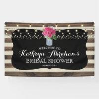 Rustic Mason Jar Wedding Bridal Shower Banner