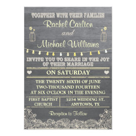 Rustic Mason Jar Wedding Invitation 5