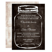 rustic mason jar wedding invites