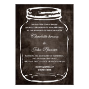 rustic shabby chic country mason jar wedding invites by mgdezigns