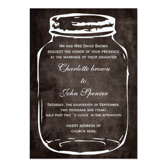 Rustic mason jar wedding invites zazzle for Rustic wedding invitations david s bridal