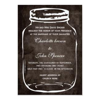 "rustic mason jar wedding invites 5"" x 7"" invitation card"