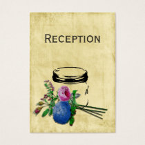 rustic mason jar wedding Reception Cards