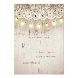 Rustic Mason Jar Wedding RSVP Cards
