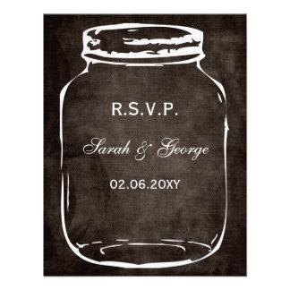 rustic mason jar wedding rsvp custom invite