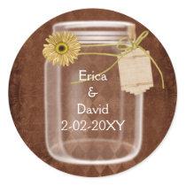 rustic mason jar wedding seals
