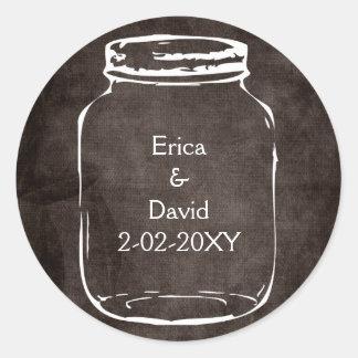 rustic mason jar wedding seals round stickers