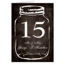 rustic mason jar wedding table numbers