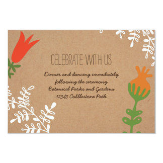 Rustic Mason Jar with Flowers Craft Paper Insert Custom Invitations