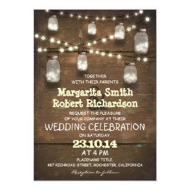 rustic mason jars and light wedding invitations 5