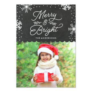 Rustic Merry and Bright | Holiday Photo Card