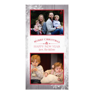 Rustic Merry Christmas and Happy New Year Card