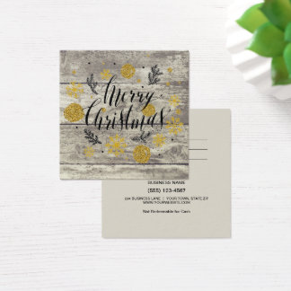 Rustic Merry Christmas Gold Gift Card Certificate